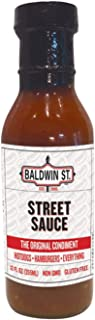 Baldwin St. - Street Sauce Ketchup - The Original Condiment for Hot Dogs, Hamburgers, and Everything - Case Pack of 6 Bottles (12 oz Each)
