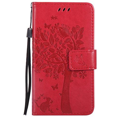 Nancen Compatible with Handyhülle Nokia Microsoft Lumia 550 Flip Schutzhülle Zubehör Lederhülle mit Silikon Back Cover PU Leder Handytasche Etui Schale