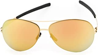 Ic!Berlin Sunglasses RAF S. 61 14 140 Sun Gold Gold Mirrored 100% Authentic New