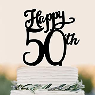 Briliant Shop 50th Wedding Anniversary Party, Company's 50th Anniversary Party ,50th Birthday Party Cake Topper (Happy 50th)