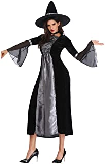 Ms. Medieval Gothic Castle Dress Gorgeous Black Palace Swing Skirt for Cosplay Halloween Clothes Festival Gothic Party