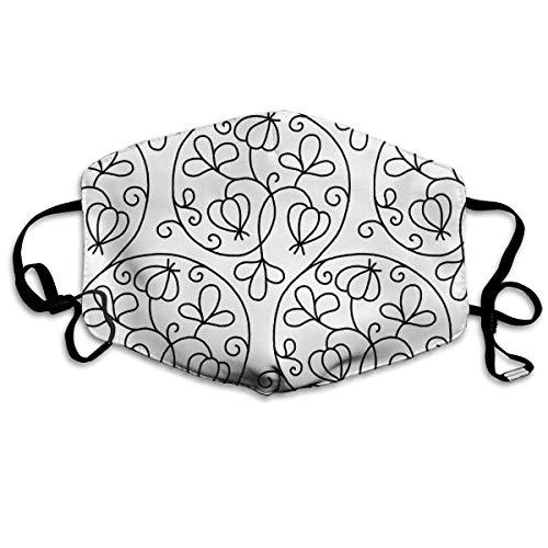 Whirlpool Flower Washable Face Schal für Männer Frauen mit verstellbaren Ohrschlaufen