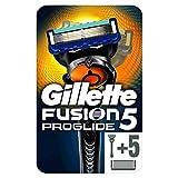 Gillette Fusion 5 ProGlide Maquinilla de Afeitar Hombre + 6 Cuchillas de Recambio