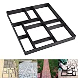 Skelang Rectangular Pavement Mold, Reusable Path Maker Mold, Concrete Cement Mould 17.7'×15.7'×1.57', Stepping Stone Mould for DIY Garden Concrete Path, Patio Lawn Walkway, Yard Floor Paving