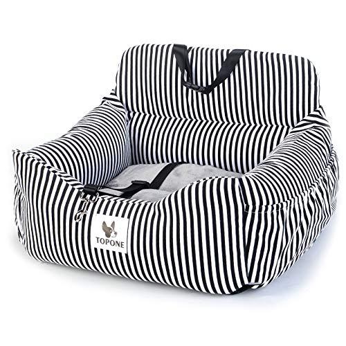 NIBESSER 2-in-1-Autositz für Hunde autositz Hunde Rücksitz für kleine bis mittelgroße Hunde wasserdicht und rutschfest Autokorb mit Sicherheitsgurt abnehmbarem Hundekissen