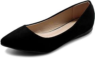 کفش بالی زنانه Ollio Comfort Light Faux Suede تخت کفش چند رنگ