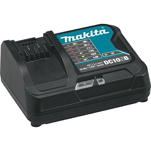 Makita DC10SB 12V Max CXT Cargador Óptimo Rápido de iones de Litio-Ion