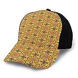 Gorra de béisbol estructurada, Arreglo floral árabe imagen de tono cálido ilustración naturaleza ilustración papá sombrero se adapta a hombres mujeres, perfil bajo ajustable