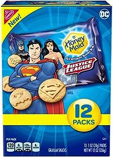 Honey Maid Justice League Graham Snacks, Honey, 12.0 Ounce, 4 Count