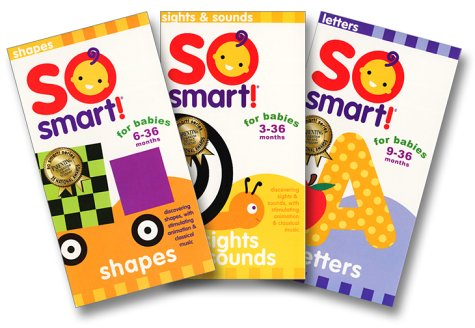 So Smart - Triplets (3 Pak With Sights & Sounds/Shapes/Letters) [VHS]