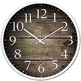 SLZFLSSHPK Reloj Cocina Pared Reloj de Pared for Viven Reloj de Pared de Metal Reloj Retro silencioso Reloj de Cuarzo Ronda hogar Creativo del Reloj Decorativo Oficina Kitchen Shop