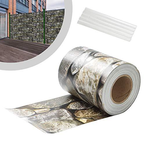 wolketon PVC Sichtschutzstreifen 35m x 19cm Zaunblende Folie, inkl. 30 Befestigungsclips, Windschutz Sonnenschutz Sichtschutz Gartenzaun, Sichtschutzfolie für Doppelstabmattenzaun