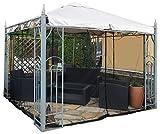 FREILUFTRAUM Kastenförmiges Moskitonetz für Pavillon Terrasse Lodge oder Balkon im Transportbeutel für Reisen (300x300, Schwarz)