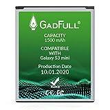 GadFull Batería de reemplazo para Samsung Galaxy S3 Mini   2020 Fecha de producción  Corresponde al Original EB-F1M7FLU  Compatible con Galaxy Ace 2 i8160  S3 Mini i8190  Galaxy S Duos S7562
