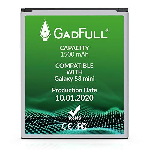 GadFull Akku für Samsung Galaxy S3 Mini | 2020 Baujahr | Entspricht Dem Original EB-F1M7FLU | Lithium-Ionen-Akku der Modelle Galaxy Ace 2 i8160 | Galaxy S3 Mini i8190 | Galaxy S Duos S7562