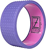 ZURA Pro Grade Yoga Wheel, Spine Roller, Yoga Ring, Meditation Tools, Back Cracker Relieves Back Pain. Yoga Prop Wheel for Stretching, Back Bends. Pro Series, Holds 300 Pounds, 13 inch