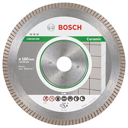 Bosch ProfessionalDiamanttrennscheibe Best für Ceramic Extra-Clean Turbo, 180 x 22,23 x 1,6 x 7 mm, 2608603596