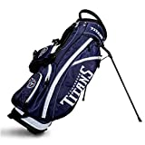 Team Golf NFL Tennessee Titans Fairway Golf Stand Bag, Lightweight, 14-way Top, Spring Action Stand, Insulated Cooler Pocket, Padded Strap, Umbrella Holder & Removable Rain Hood