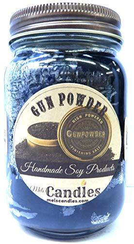 Gun Powder 16oz Country Jar Handmade Soy Candle
