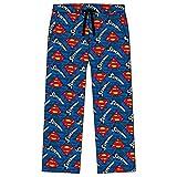Mens Superman Lounge Pants 31576 Blue (Loose Leg) Small