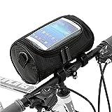 Borsa per manubrio bici Borsa anteriore impermeabile Borsa per bicicletta con tracolla rimovibile Custodia trasparente