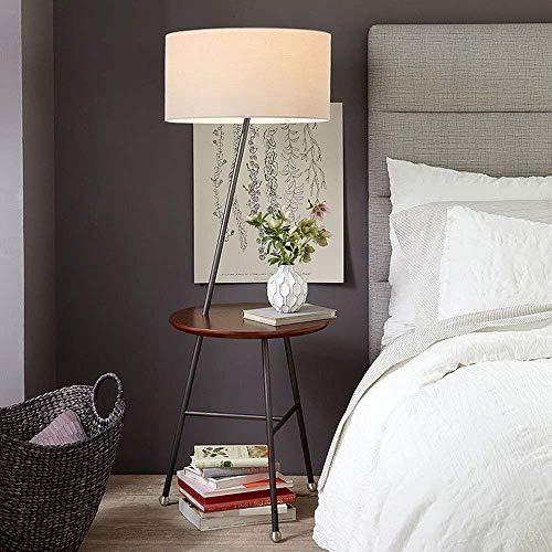 Luces de Piso LED American Minimalist Modern Creative Nordic Round Estante de Hierro Luces de Piso para Sala de Estar Dormitorio Sofá Mesa de Centro Bombilla incluida, Lámpara B