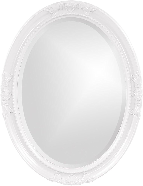 Howard Elliott Collection 40101 Queen Ann Mirror, White
