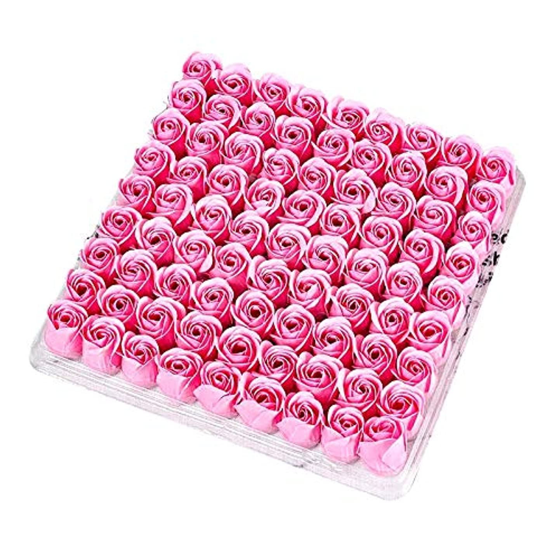 神聖怒って用語集CUHAWUDBA 81個の薔薇、バス ボディ フラワー フローラルの石けん 香りのよいローズフラワー エッセンシャルオイル フローラルのお客様への石鹸 ウェディング、パーティー、バレンタインデーの贈り物、ピンク