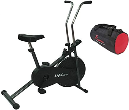 Lifeline Exercise Cycle 102 for Weight Loss at Home with MySpoga Gym Bag for Men and Women