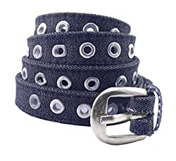 Premium Quality Womens Girls Ladies Canvas Cloth Cotton Casual Belt with Stylish Trendy Buckle Strap Ideal for Jeans Trousers Cargo Joggers - 2 CMS