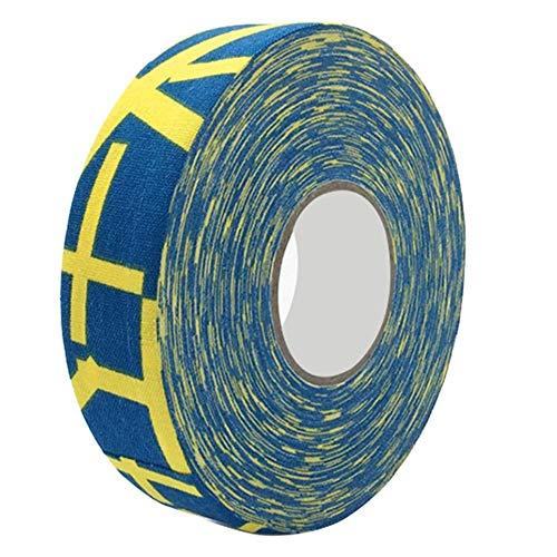 Badmintonband Hockeyband Hockeyschlägerband,Badminton-Pole-Pads Badminton-Pole-Tape, verschleißfestes Hockey-Schutzband, Hockey-Stick-Tape(Yellow Plus)