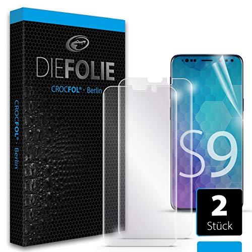 Crocfol Schutzfolie vom Testsieger [2 St.] kompatibel mit Samsung Galaxy S9 - selbstheilende Premium 5D Langzeit-Panzerfolie - für vorne, hüllenfreundlich