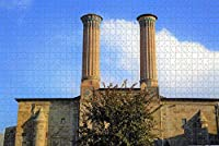 Jigsaw Puzzle for Adults Erzurum Twin Minaret Madrasa Turkey Puzzle 1000 Piece Wooden Travel Souvenir Gift