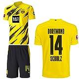 PUMA Borussia Dortmund BVB Heimset 2020 2021 Home Kit Sponsor BL Logo Herren Nico Schulz 14 Gr XXXL