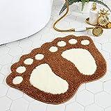 Alfombra de baño Alfombrillas absorbentes alfombras Antideslizantes alfombras para el hogar Alfombrillas Antideslizantes Resistentes a la Suciedad de fácil Cuidado (Color:4,Size:40 * 60cm)