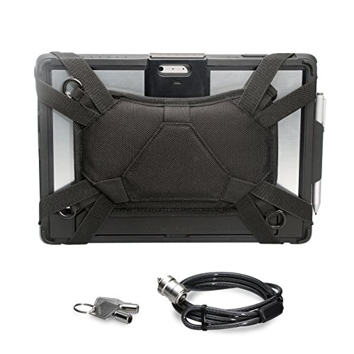 CTA Digital Security Carrying Case with Kickstand and Anti-Theft Cable for Surface Pro 4/5/6 (PAD-SCCKS)