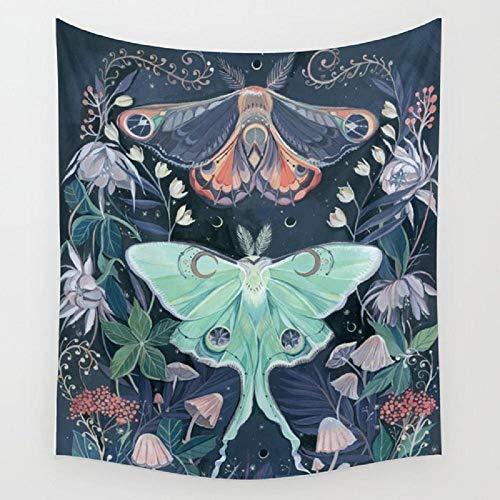 Tapiz de polilla planta flor colgante de pared de habitación colcha de playa tapices accesorios de decoración del hogar 150x179cm