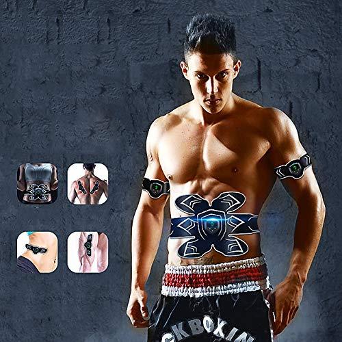 HXUJ Abs Stimulator Bauchmuskel-Gürtel EMS Trainer Sports Silicon ABS Resin Sport & Fitness Gym Workout elektronischen Muskel-Bauch Fatburner für Männer
