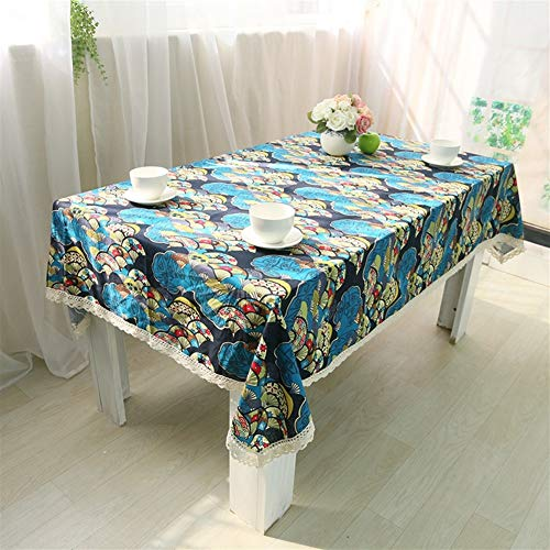 NOBRAND Bedrukte Retro Tafelkleed Koffie Tafel Magnetron Cover Handdoek Vlek Stofbestendig Doek Decoratieve Tafelkleed