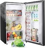 Mini Fridge with Freezer TAMF32, 3.1 Cu.Ft, Low Noise, Energy Star, 6 Settings Temperature Adjustable, Mini Fridge for Office, Dorm or Apartment