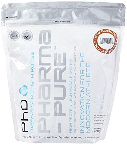 PhD Nutrition Whey Isolate Protein Pulver Chocolate Cookie - Molke Pulver, Reich an Protein Fettarm Zuckerarm mit Ballaststoffen, Schokoladen Keks aromatisierte Formel für Muskelaufbau Trinkmolke Shakes (908g)