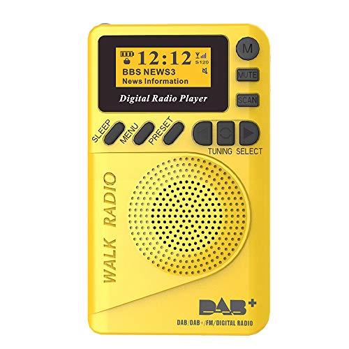 Docooler P9 Mini Pocket DAB/FM Digital Radio Digitaler FM-Demodulator mit LCD-Display Tragbarer MP3-Player TF-Kartensteckplatz