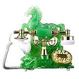 YANGYUAN Teléfono con Cable Verde Retro Modelado de teléfono Resina Botón de Metal Dial Moda Asiento Creativo Pastoral Oficina en el hogar Europeo 220mm280mm250mm