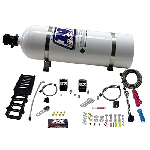 Nitrous Express 20103-15 Edelbrock Victor Plate with 15 lbs. Bottle for Ford 5.0L