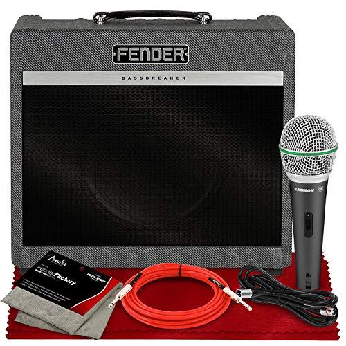 Fender Bassbreaker 15 Combo 120V with Accessory Bundle