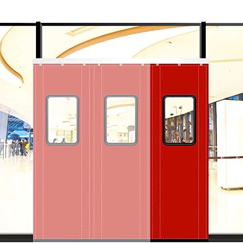 MAHFEI Winter Wärmeschutzvorhang, Baumwollvorhang Mit Fenstern Trennvorhang Widerstehen Sie Dem Wind Und Der Kälte Warm Halten Wasserdichtes Oxford-Tuch Für Den Haushalt Einkaufszentren