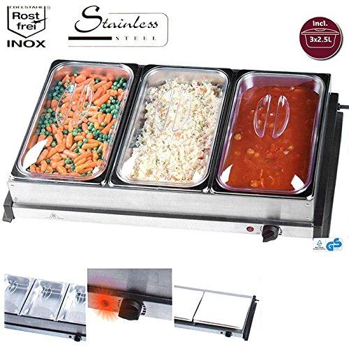 Buffet-Speisewärmer mit Warmhalteplatte 2-in-1
