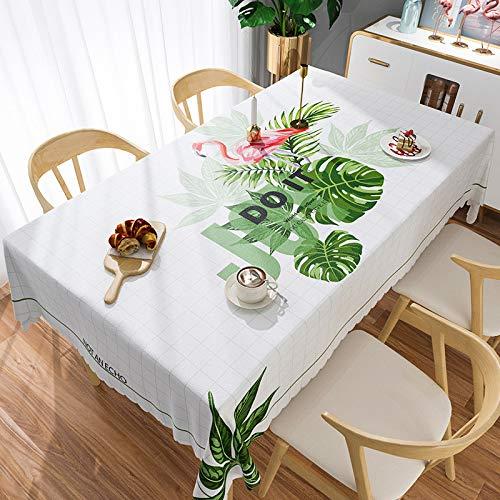 XIAOE Decoración del hogar Limpiar Mantel Limpio Vinilo PVC Impermeable Impermeable Prueba Polvo Cubierta Mesa Resistente a Las Manchas A Prueba de Moho Cocina Comedor Mesa 137 * 180cm