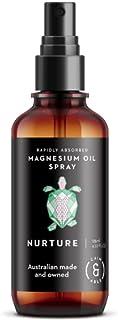 Caim & Able Magnesium Oil Spray Bottle NURTURE Frankincense & Rose Geranium Essential Oils 125ml - Australian Made Pure Am...