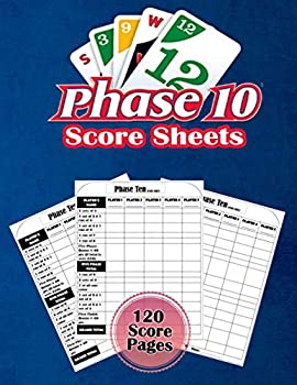 Phase 10 Score Sheets  Phase 10 Score Cards   120 Large Score Pads for Scorekeeping     Phase 10 Score Pads with Size 8.5 x 11 inches